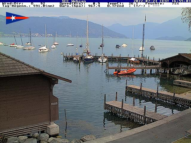 Webcam Cham Zugersee Segel Club