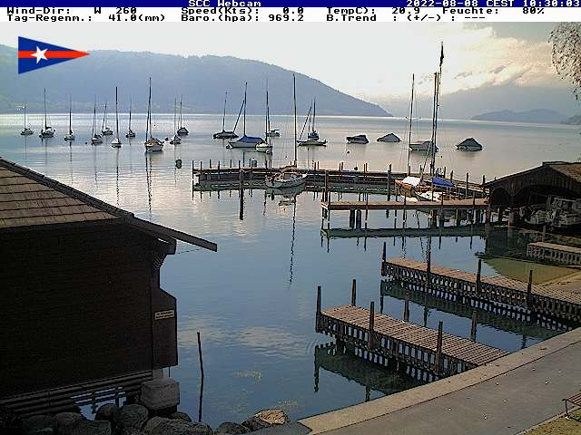 Webcam von Segel Club Cham